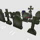 Tomb stone graveyard  collection modl pack 1