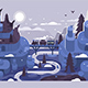 Free Download Railway at Winter Night Landscape Nulled