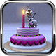 Birthday Cake with  Frozen Snow Man Model