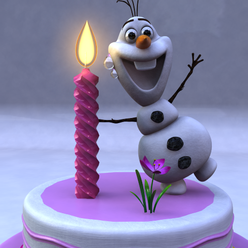 Incredible Birthday Cake With Frozen Snow Man Model By Pro Gaming 3Docean Birthday Cards Printable Nowaargucafe Filternl