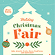 Holiday Christmas Fair Flyer - GraphicRiver Item for Sale