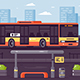 Bus Public Transport at the Stop - GraphicRiver Item for Sale