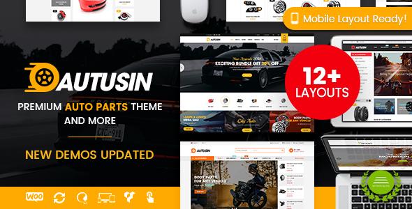 Autusin - Auto Parts Shop, Moto Store WooCommerce WordPress Theme (12+ Indexes & 3 Mobile Layouts) - WooCommerce eCommerce