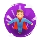 Flying Superhero Character - GraphicRiver Item for Sale