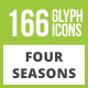 Free Download 166 Four Seasons Glyph Inverted Icons Nulled