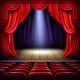 Empty Concert Hall Stage Realistic Vector - GraphicRiver Item for Sale