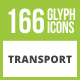 166 Transport Glyph Inverted Icons - GraphicRiver Item for Sale