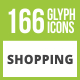 166 Shopping Glyph Inverted Icons - GraphicRiver Item for Sale
