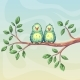Two Birds on Branch - GraphicRiver Item for Sale