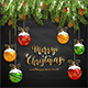 Christmas Lettering on Black Chalkboard Background - GraphicRiver Item for Sale