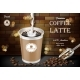 Free Download Latte Coffee Cup with Milk Splash and Beans Ads Nulled