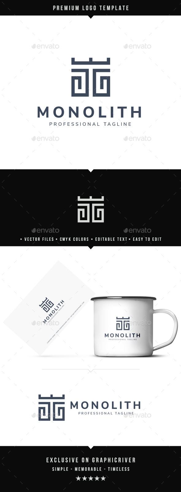 Monolith Logo - Symbols Logo Templates