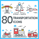 Free Download Transportation Icons Nulled