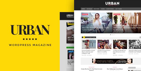 Urban - Responsive Magazine Theme - News / Editorial Blog / Magazine