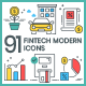 Free Download Fintech Icons - Modern Nulled