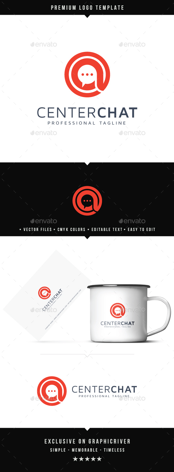 Center Chat Logo - Symbols Logo Templates