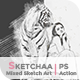 Sketchaa - Mixed Sketch Art | PS Action - GraphicRiver Item for Sale