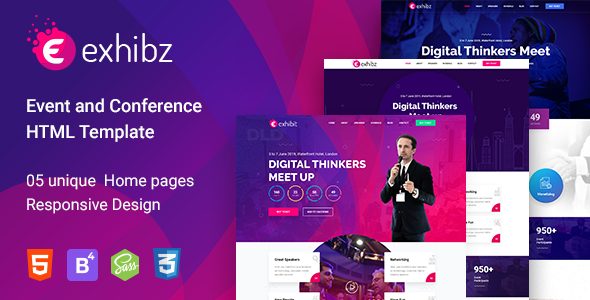 Exhibz - Responsive Event HTML Template