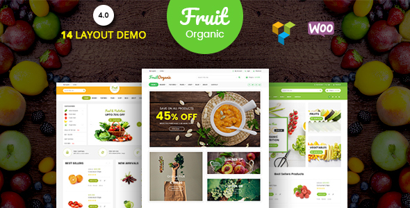 Fruit Shop - Organic Food, Natural RTL Responsive WooCommerce WordPress Theme