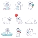 Free Download Polar Bear Baby White Icons Set Nulled