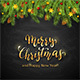 Christmas Lettering on Black Chalkboard Background with Holiday Decorations - GraphicRiver Item for Sale