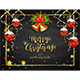 Christmas Balls and Bells on Black Chalkboard Background - GraphicRiver Item for Sale