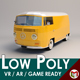 Low-Poly Cartoon VW Transporter Bus