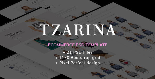 Tzarina - Responsive eCommerce PSD Template - Fashion Retail