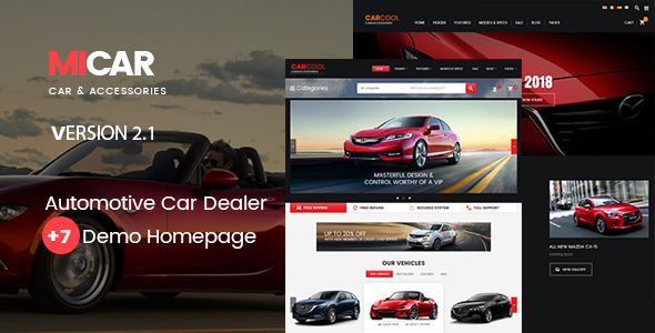 Micar -  Auto Dealer RTL WooCommerce WordPress for Car and Moto Theme - WooCommerce eCommerce