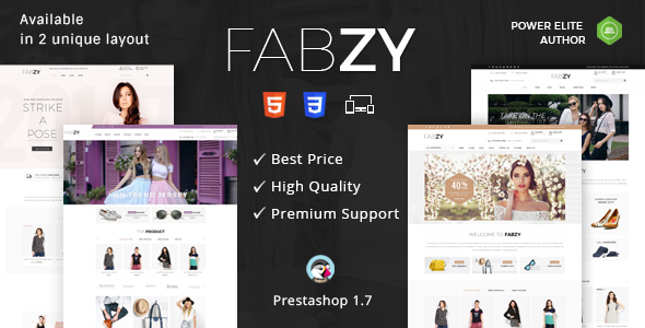 Fabzy - Responsive Prestashop 1.7 Theme