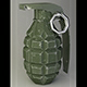 grenade F-1 very low-poly Low-poly