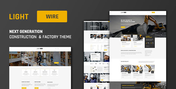 Lightwire - Construction and Industry | The Construction Theme - Business Corporate