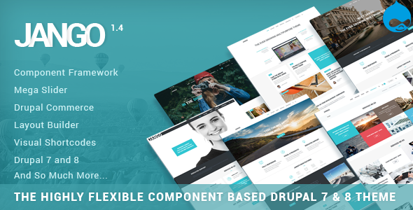 Jango | Highly Flexible Component Based Drupal 7 & 8 Theme - Business Corporate