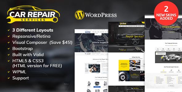 Car Repair Services & Auto Mechanic WordPress Theme - Business Corporate