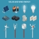 Solar and Wind Energy Generation. Electrical - GraphicRiver Item for Sale
