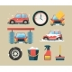 Car Wash Icon Set - GraphicRiver Item for Sale