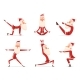 Santa Yoga - GraphicRiver Item for Sale