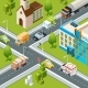 City Crossroad Traffic - GraphicRiver Item for Sale