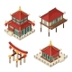 Asian Buildings Isometric - GraphicRiver Item for Sale