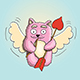Valentines Day Cupid Pink Cat - GraphicRiver Item for Sale