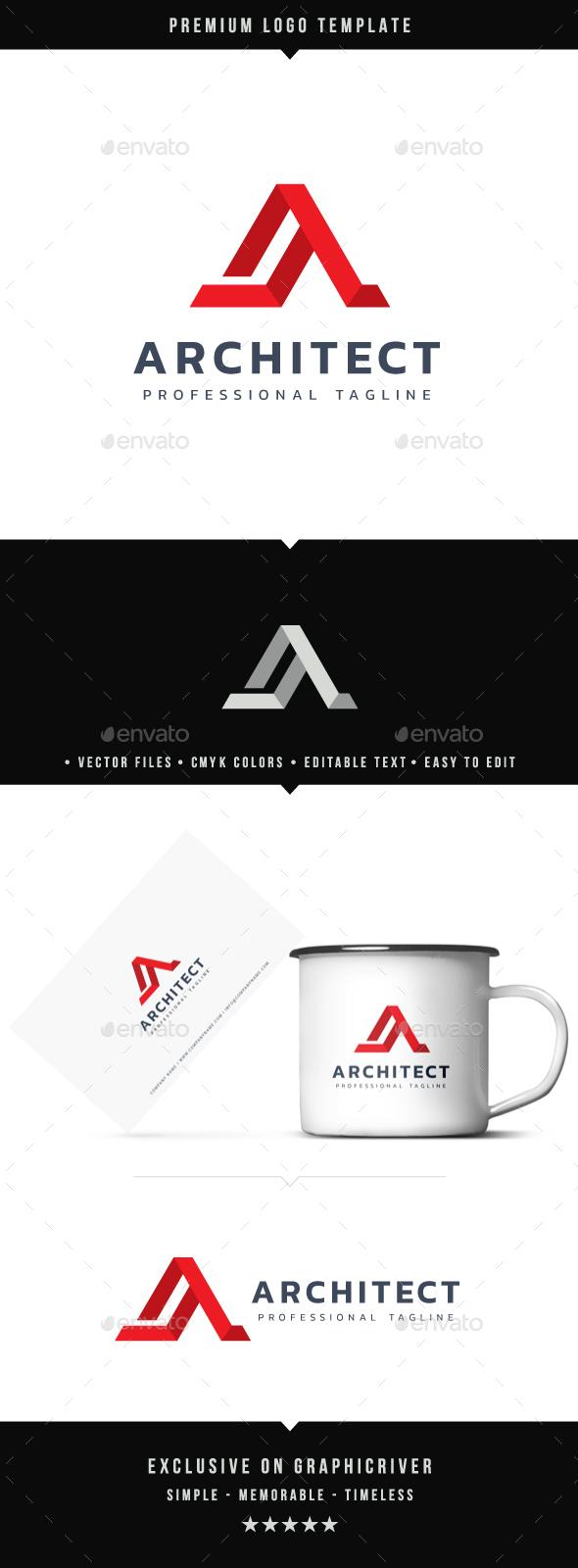 Letter A - Architect Logo - Letters Logo Templates