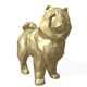 Chowchow dog figure low poly