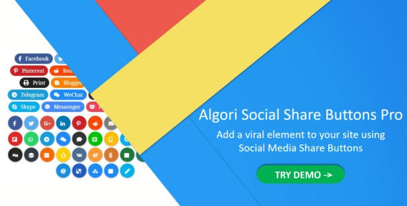 Algori Social Share Buttons Pro for WordPress Gutenberg - CodeCanyon Item for Sale