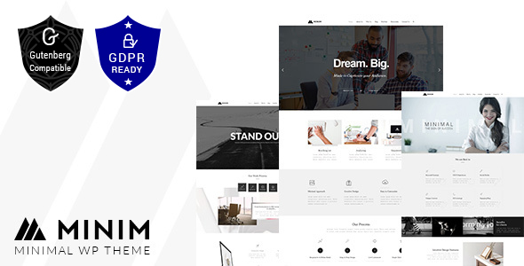 Minim - Minimal Portfolio Theme - Business Corporate