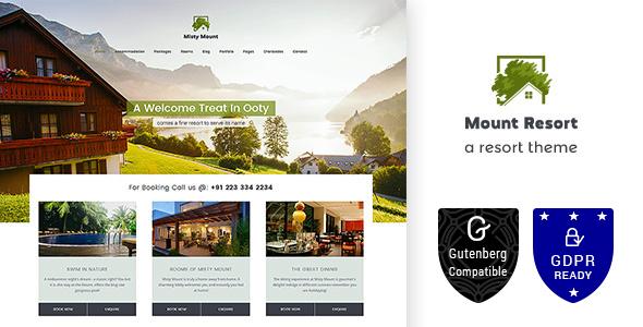 Mount Resort | Hotel, Resort WordPress Theme - Travel Retail
