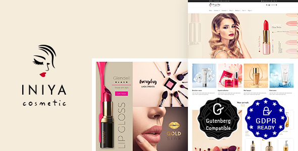 Iniya - Cosmetic WordPress Theme - Health & Beauty Retail