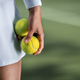 Free Download Tennis player in sportswear with a ball Nulled