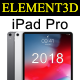 Element3D – iPad Pro 2018 - 3DOcean Item for Sale