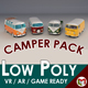 Low-Poly Cartoon Camper Van Pack - 3DOcean Item for Sale