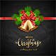 Lettering Merry Christmas with Golden Bells - GraphicRiver Item for Sale